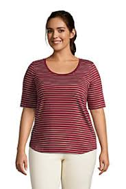 <b>Plus Size Scoop Neck</b> Tops & Tees | Lands' End