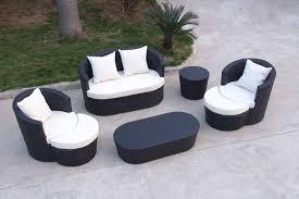 wicker black patio chair cushions