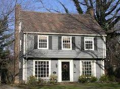 Pretty garrison in yellow   What is a Garrison Colonial House    Image result for garrison colonial house plans