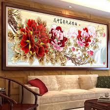 Flower Peony 5D <b>Diamond</b> Painting Cross Stitch Special Shaped ...