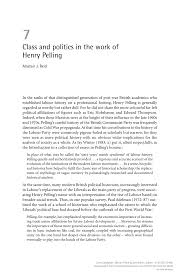 (PDF) Class and politics in the work of <b>Henry Pelling</b>