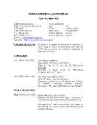 format of making resume template format of making resume
