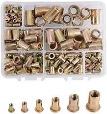 180pcs <b>M3</b>-M10 Rivet <b>Nut</b> Assortment Kit Zinc Plated <b>Carbon Steel</b> ...