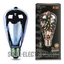 <b>147802404 Лампа Gauss</b> LED 3D-Butterfly E27 4W 1/10/40 ...