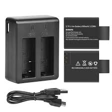 Online Shop <b>SHOOT Dual Port Battery</b> Charger with 2pcs 900mAh ...