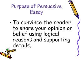 purpose of persuasive essayessay scoring  purpose  audience  content  organization    persuasive essay