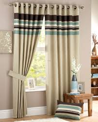 green stripe curtain living room small