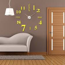buy removable modern design clock wall sticker