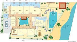 Samui Beachfront Villas  Luxury Villas Koh Samui  Baan Sarika    Baan Sarika Floor Plan