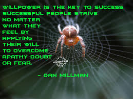 willpower key to success