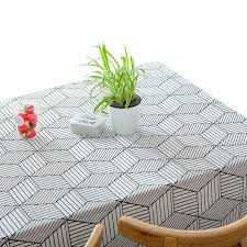 <b>Nordic geometric grid</b> pattern Tablecloth in 2019 | Home Vibes ...