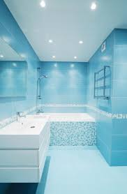 blue bathroom tile ideas: good bathroom tile blue on with white mosaic