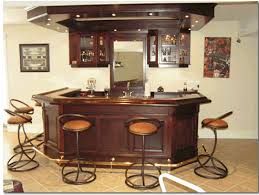 modern home bar design with the addition of unique shaped awesome home bar decor small
