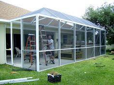 screen aluminum commercial patio windscreens