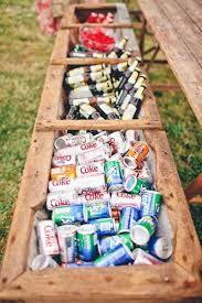 use a flower box as a rustic drink cooler good idea for a outdoor wedding brilliant 12 elegant rustic