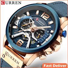 <b>CURREN 8329</b> Casual Sport Watches <b>Men</b> Blue Top Brand Luxury ...