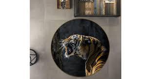 <b>3D Tiger</b> howling 106 Animal <b>Round</b> Non Slip Rug Mat, 60cm(23.6 ...
