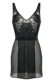 Женская <b>черная прозрачная сорочка</b> с v-образным вырезом LA ...