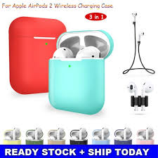 <b>3 pcs</b>/<b>set</b> For Apple AirPods 2 <b>Wireless Charger</b> Protective Silicone ...