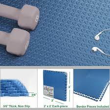 Crosslinks: Clevr 96 SqFt Steel <b>EVA</b> Blue Foam Floor Mat ...