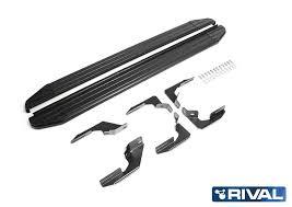 <b>Пороги</b> алюминиевые Premium-<b>Black Rival для</b> Ford Ranger III ...