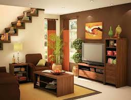 Modern Paint Colors For Living Rooms Excellent Small Apartment Living Room Idea With Brown And Cream