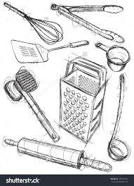 kitchen utensil: kitchen utensil sketches sketchy hand drawn kitchen utensils