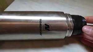 термос арктика с пробкой кнопкой в коже цвет черный 500 мл