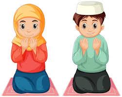 Free Vector | Arab muslim boy and <b>girl</b> in traditional clothing <b>praying</b> ...