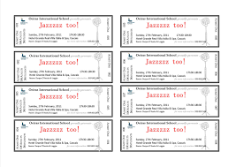 ticket format blank template printable fashion event jazzzz too it