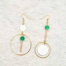 GUOHUANEUP Earring <b>New</b> Geometric Circular <b>Fashion Natural</b> ...