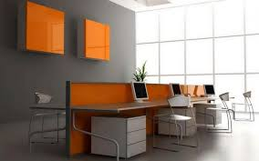 elegant orange computer amazing furniture design with gray painting wall as well metal simple chair and amazing gray office furniture