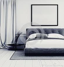 Camera Da Letto Grigio Bianco : Interno grigio e bianco alla moda della camera da letto