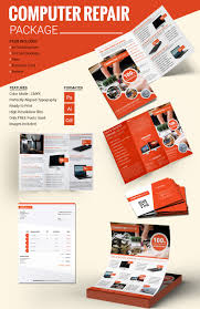 computer repair flyer psd ai format computer repair package template