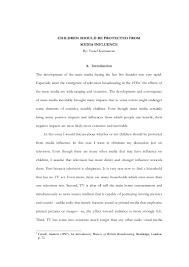 essay on media influence influence of media essays children influence of media essays