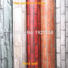 Luxury Stone Brick wall <b>Vinyl Wallpaper 3D brick</b> wall photo ...