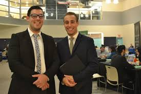 touro college draws top employers at student career fair the shmuel katz and yehuda tenenbaum at the lander college career fair