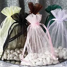 Efavormart <b>50PCS</b> Navy Blue Organza Gift Bag <b>Drawstring Pouch</b> ...