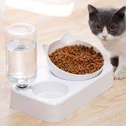 Cat Supplies Automatic Feeder <b>Cat Bowl Double</b> Bowl Automatic ...