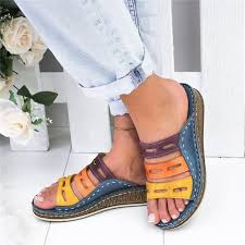 Puimentiua <b>2019 New Summer Women</b> Sandals Stitching Sandals ...