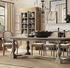 dining table achieving restoration hardware