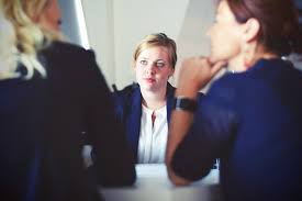 stock photos of telephone interview middot pexels 3 women in suit sitting