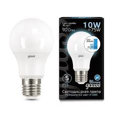<b>Лампа Gauss LED</b> A60 10W E27 4100K step dimmable - Gauss ...