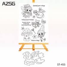 <b>Zhuoang</b> Lovely Sika Deer Rubber Clear Stamps and Cutting Dies ...