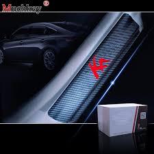 <b>4pcs</b>/<b>set</b> For Ford KA 4D Vinyl <b>Carbon Fiber Car</b> Sticker Door Guard ...