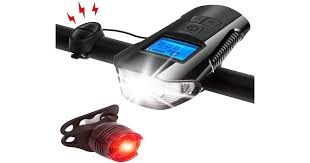 Back <b>Bicycle</b> Speedometer <b>Bike</b> Light Odometer <b>USB Rechargeable</b> ...