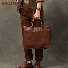 <b>PNDME Business</b> Handmade Genuine Leather Men'S Briefcase ...