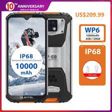<b>OUKITEL WP6 4G</b> עמיד למים Smartphone 6.3 אינץ אבק הלם 9 V/2A ...