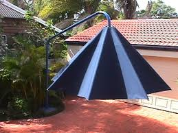 metre giant umbrella:  giant umbrella half way open shut