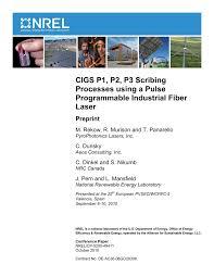 (PDF) CIGS <b>P1</b>, <b>P2</b>, <b>P3</b> Scribing Processes using a Pulse ...
